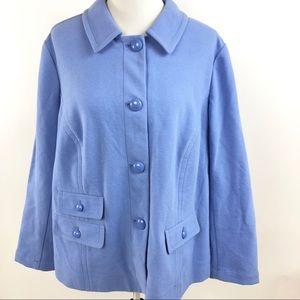 Talbots Woman Blazer Stripe Textured Career Jacket